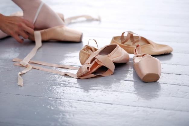 Pantoufles de ballerine Photo gratuit