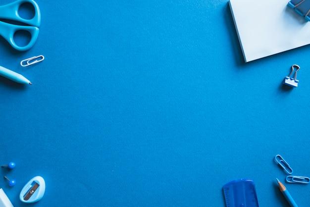 Papeterie bleue Photo gratuit