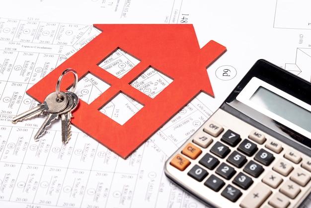 Papeterie de l'immobilier sur le plan Photo gratuit