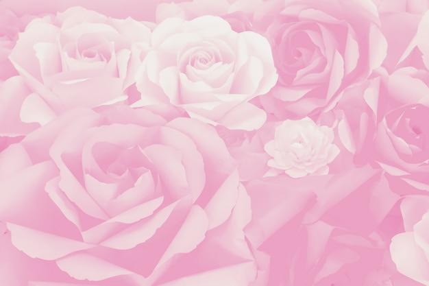 Papier artificiel belle décoration rose fond de fleur pour la saint valentin ou la carte de mariage. Photo Premium