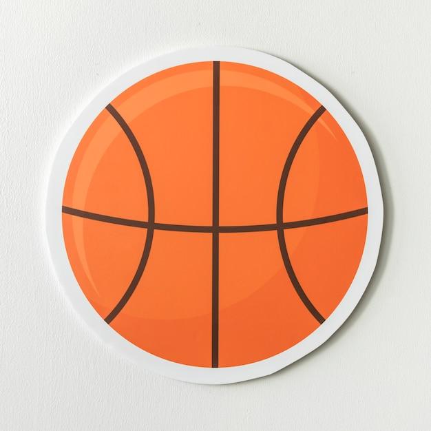 Papier artisanal d'un ballon de basket Photo gratuit