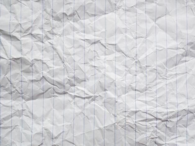 Papier blanc froissé, texture lettre lettre sale Photo Premium
