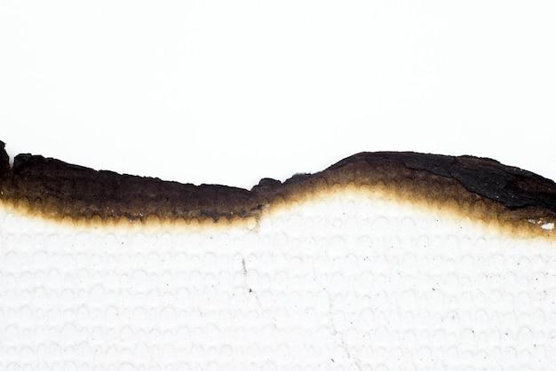 Papier brûlé vieux texture abstraite de grunge Photo Premium
