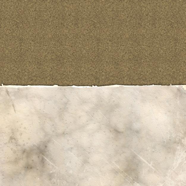 Papier déchiré grunge sur une texture de lin Photo gratuit