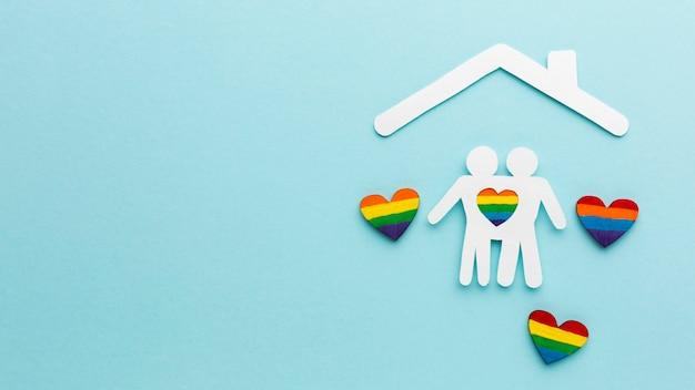 Papier Découpé Couple De Personnes Dans Une Maison Photo gratuit