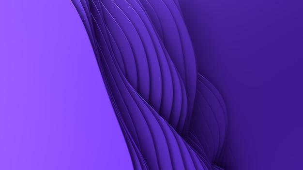 Papier Découpé Fond Abstrait. Art De Sculpture Violet Propre 3d. Papier Craft Vagues Colorées. Design Moderne Minimaliste Pour Les Présentations Commerciales. Photo gratuit