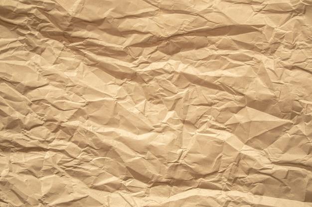 Papier Froissé Brun Bouchent Fond De Texture Photo Premium
