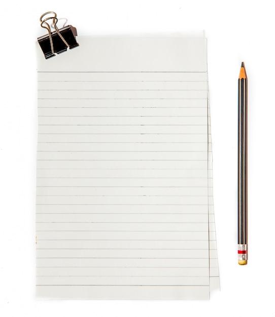 Papier Noir Avec Crayon Photo Premium