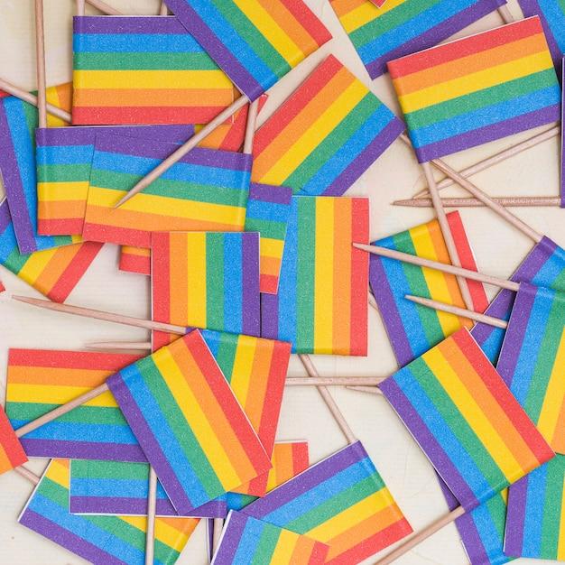Papier peint drapeaux multicolores lgbt Photo gratuit