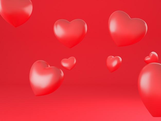 Papier peint fond du coeur Photo Premium