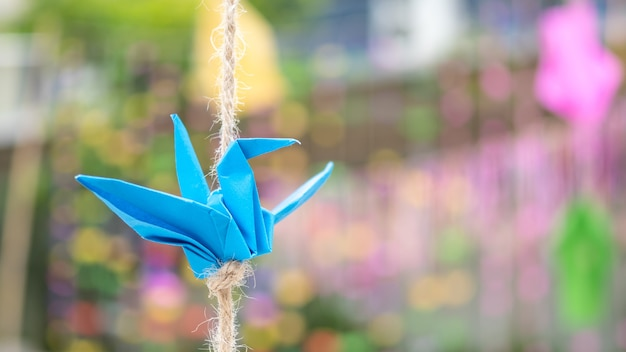 Papier pliant bird Photo Premium