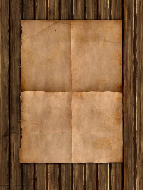 Papier de style grunge sur une texture en bois Photo Premium