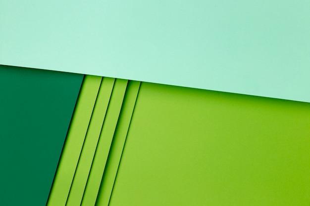 Papiers Vert Clair Et Foncé Photo Premium