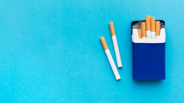 Paquet De Cigarettes Espace Copie Photo Premium