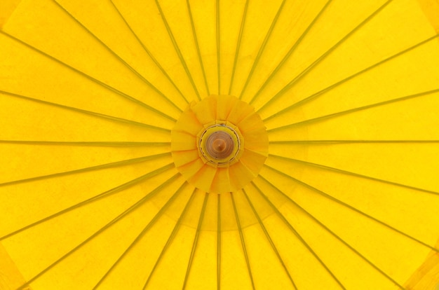 Parasol Parasol Parasol Jaune Vue De Dessus Photo Premium