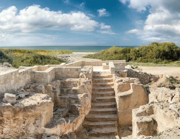 Parc archéologique de paphos à kato pafos à chypre Photo Premium