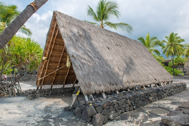 Parc Historique National De Pu'uhonua O Honaunau Photo Premium