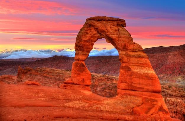 Parc national des arches, délicate arche, dans, utah, usa Photo Premium