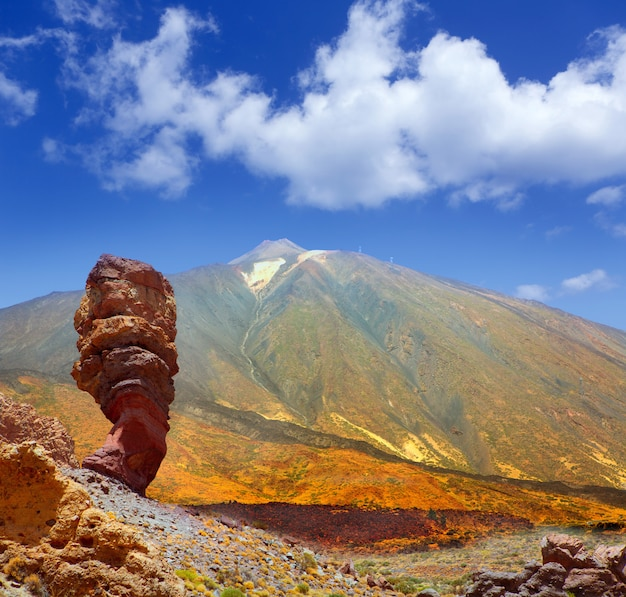Parc national du teide roques de garcia à tenerife Photo Premium