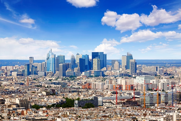 Paris skyline aérien de montmartre Photo Premium