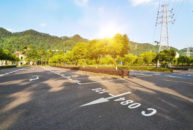 Parking Dans Le Parc Photo gratuit