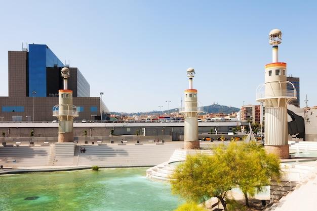 Parque de l'espagne à barcelone Photo gratuit