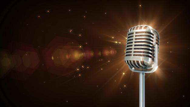 Particule de microphone rétro Photo Premium