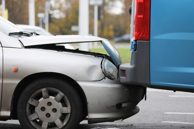 Partie Accidentée De L'automobile Photo Premium