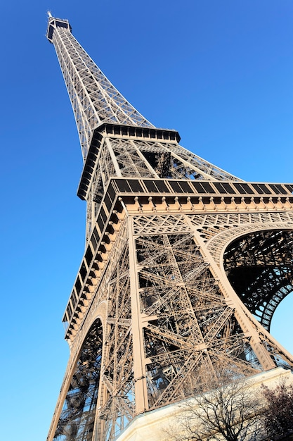 Partie De La Célèbre Tour Eiffel à Paris Photo gratuit