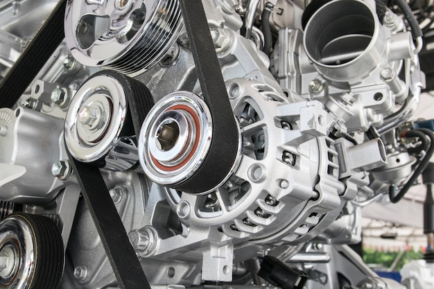 Partie du moteur de voiture Photo Premium