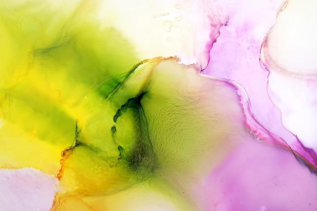 Partie de fond de peinture à l'encre d'alcool originale Photo Premium