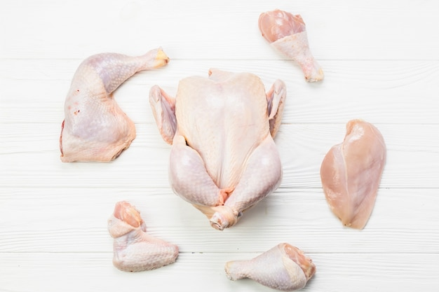 Parties de poulet Photo gratuit
