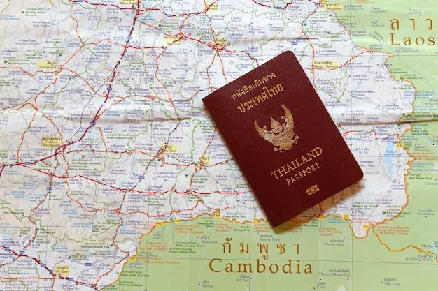 Carte Du Monde Laos.Passeport De La Thailande Sur La Carte Pour Voyage Du Monde Et