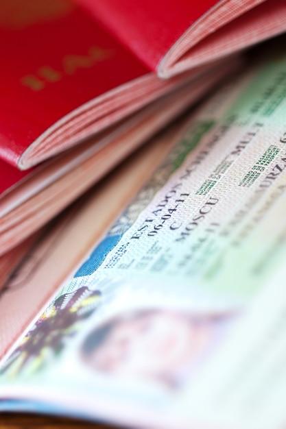 Passeport avec visa schengen Photo gratuit