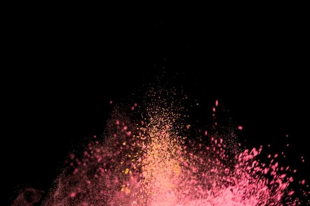 Patch lumineux de fines particules colorées Photo gratuit