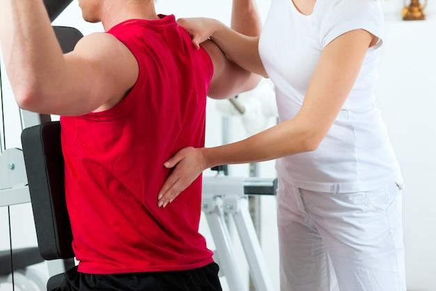 Patient à la physiothérapie Photo Premium