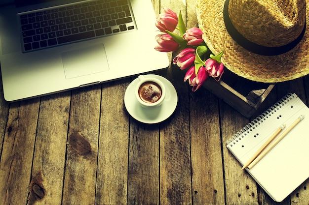 Pause espace bois d'affaires clavier Photo gratuit
