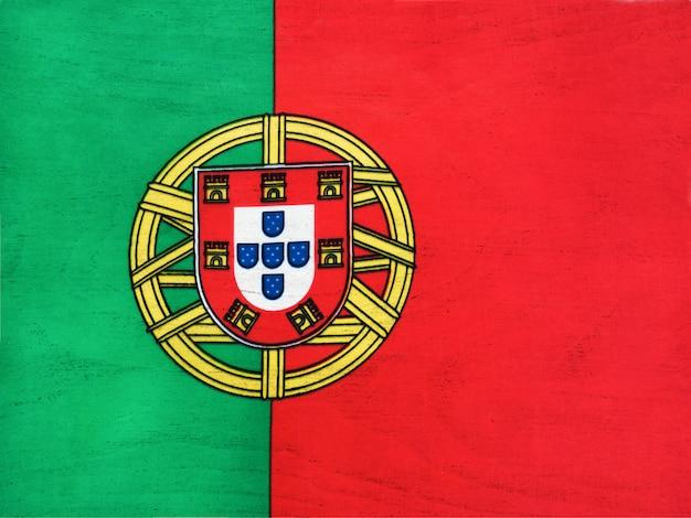Pavillon Du Portugal. Gros Plan, Vue D'en Haut. Concept De Fête Nationale. Photo Premium