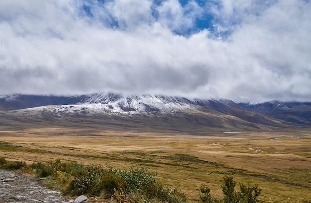 Paysage D'automne Froid En Sibérie, Le Début De L'hiver. Photo Premium