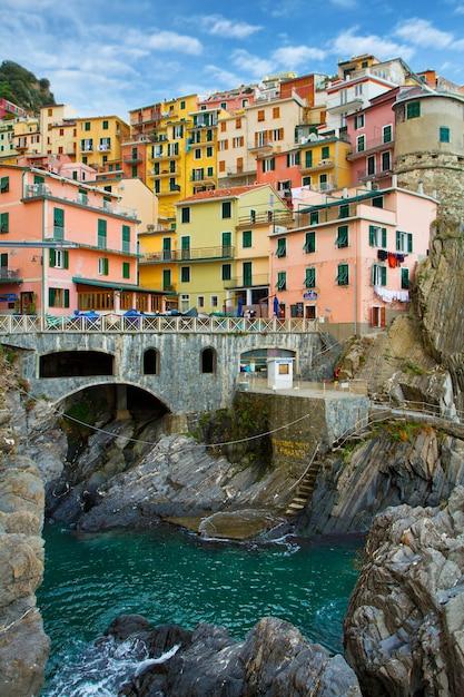 Paysage des cinque terre en italie Photo Premium