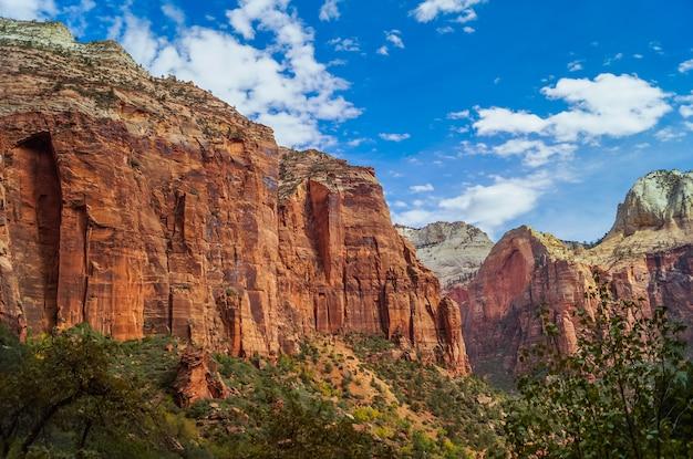 Paysage coloré de zion parc national utah Photo Premium