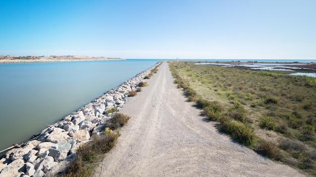 Paysage, espaces naturels du delta du llobregat Photo Premium