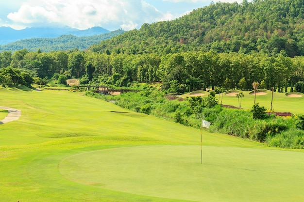 Paysage de golf Photo gratuit
