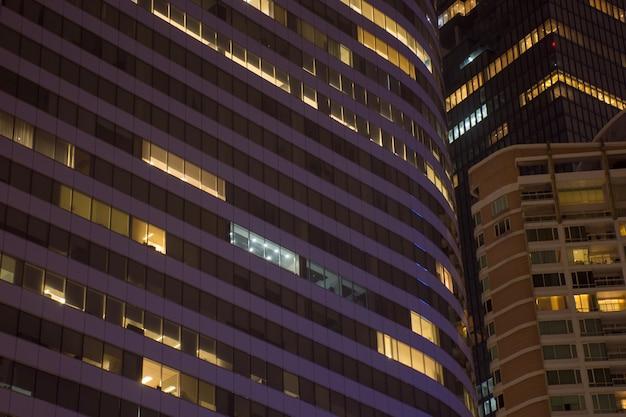 Paysage Lumière De Fenêtre Pour Lieu De La Ville La Nuit Dans La Ville Photo Premium
