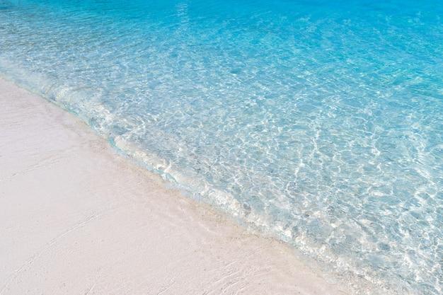 Paysage marin de belle plage vue île à la texture traditionnelle de fond de l'eau bleue de la province de l'est de la thaïlande Photo gratuit
