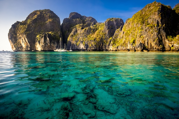 Paysage de mer pittoresque. Photo Premium