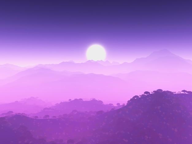 Paysage de montagne pourpre Photo gratuit