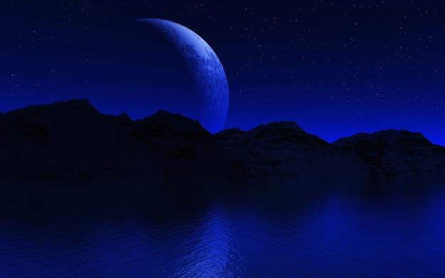 Paysage De Nuit Photo gratuit