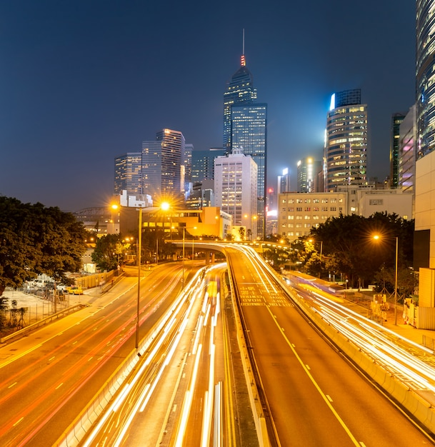 Paysage urbain de hong kong Photo Premium