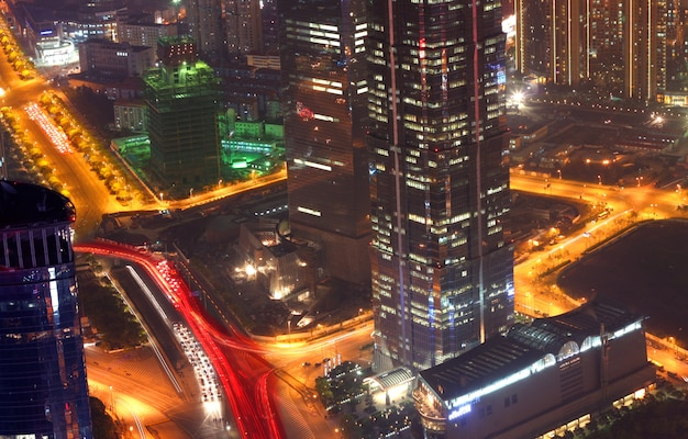 Paysage urbain de shanghai Photo Premium